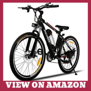 ANCHEER Electric Mountain Bike For Adults With Charger
