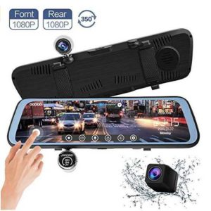 CHICOM 9.66 Mirror Dash Cam Touch Full Screen