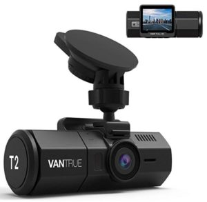 Vantrue T2 Recording Dash Cam Super Capacitor Microwave Parking Mode Camera Dashboard Camera, Night Vision and Heat Resistant