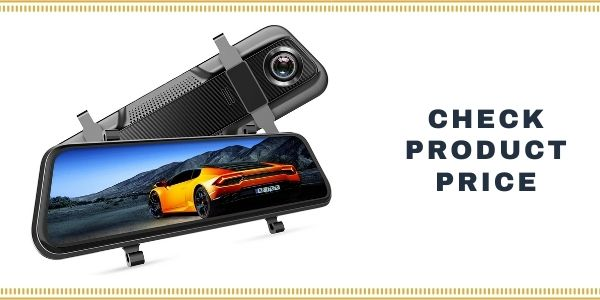 "VanTop H609 Dual 1080P Mirror Dash Cam with 10"" IPS"